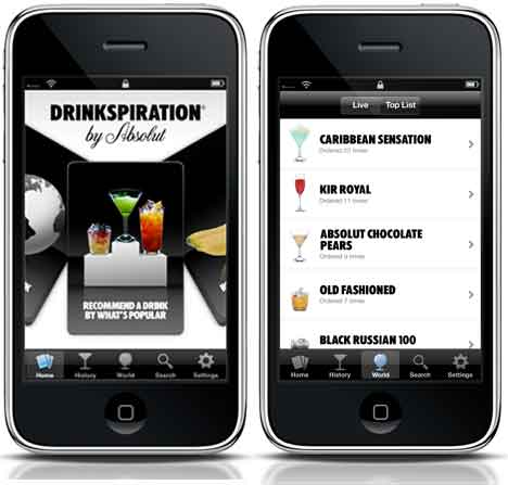 absolut drinkspiration ipho Barman de bolso  Aplicativos de receitas para preparar drinks e bebidas