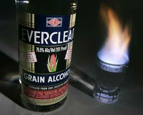 everclear As 5 bebidas mais fortes do mundo