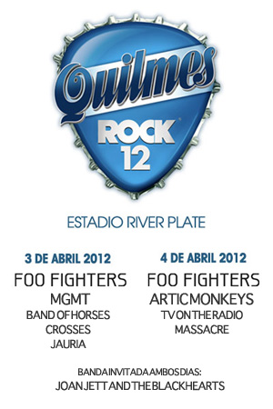 1321762253 bannerquilmesss Quilmes, rock e Foo Fighters