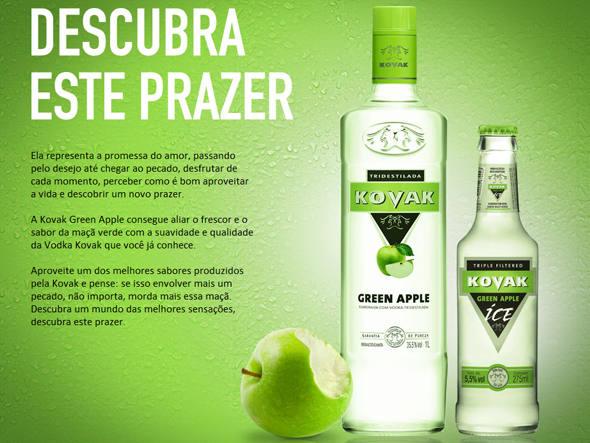 Vodka Kovak lança sabor maçã verde e aposta nas redes sociais