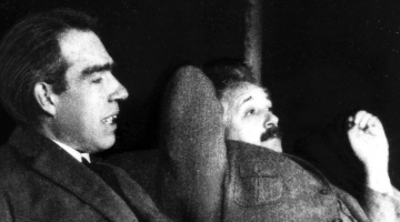 Bohr e Einstein jogando conversa fora