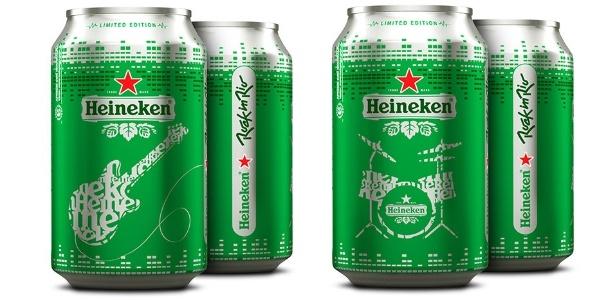 Latas de Heineken divulgando o evento