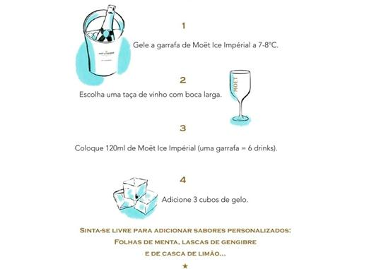 Como beber Moet Ice Imperial