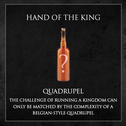cerveja game of thrones - hand of the king quadrupel