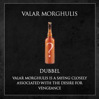 cerveja game of thrones - valar morghulis dubel