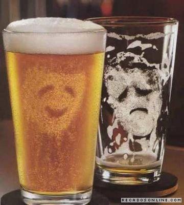 Álcool na alegria e na tristeza, sempre bem vindo