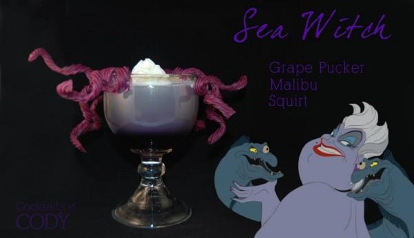 Drink Ursula: Licor de uva + Malibu + refrigerante de citrus