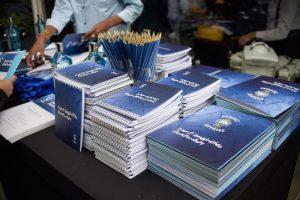caderninhos azuis